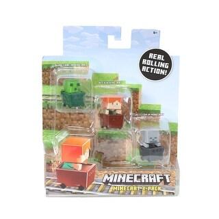 Minecraft Slime Cube, Alex, Skeleton Figure 3 Pack