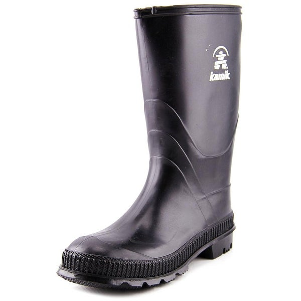 Kamik Stomp Youth Round Toe Synthetic Black Rain Boot