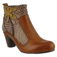 L'Artiste by Spring Step Women's Dramatic Boot Camel Multi Leather