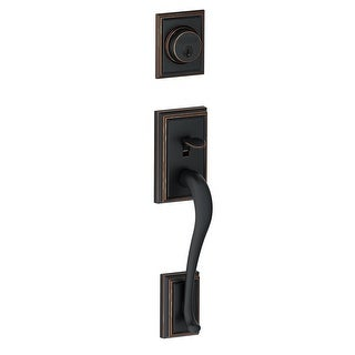 Schlage F58-ADD  Addison Single Cylinder Exterior Entrance Handleset from the F-Series
