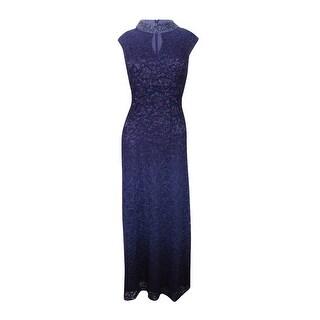 Alex Evenings Women's Embellished Lace Dress - smoke