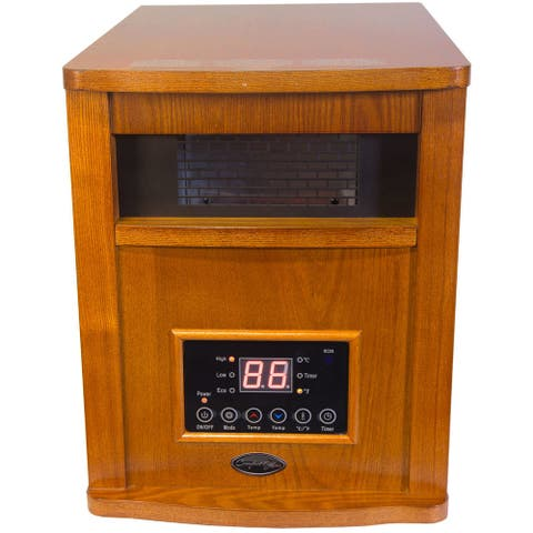 Comfort Glow QEH1500 Deluxe Infrared Quartz Electric Heater, Oak, 5120 BTU