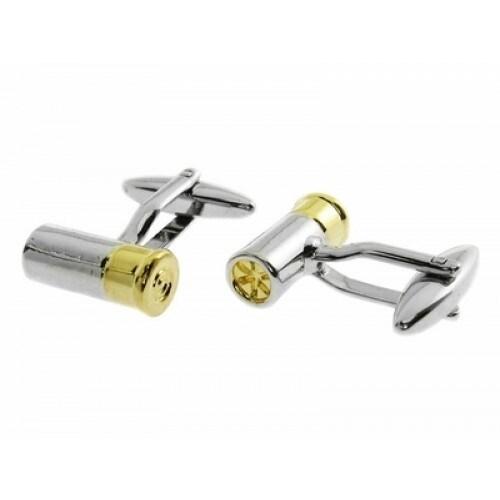 Shotgun Shell Ammo Bullet Cufflinks
