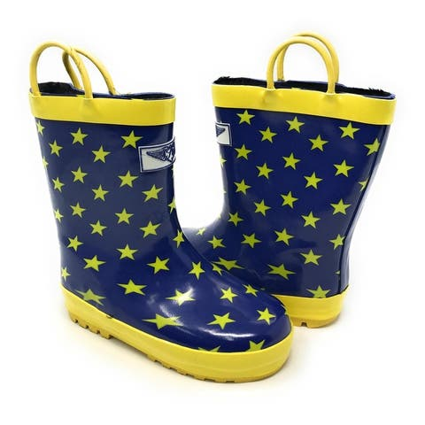 Forever Young Kid's Rubber Pull Up Star Print Rainboots