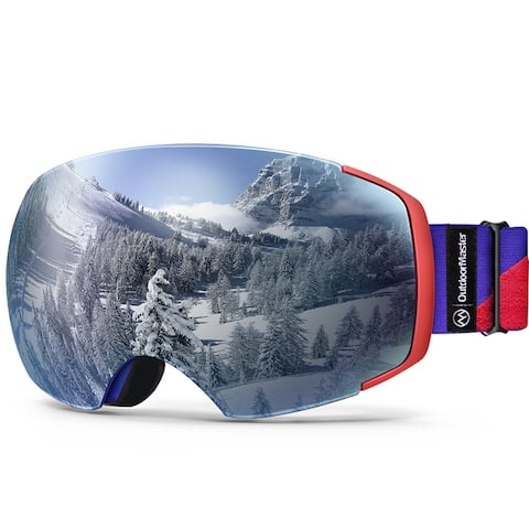 OutdoorMaster Ski Goggles PRO Frameless Interchangeable Lens Snow Goggles UV400 - One Size