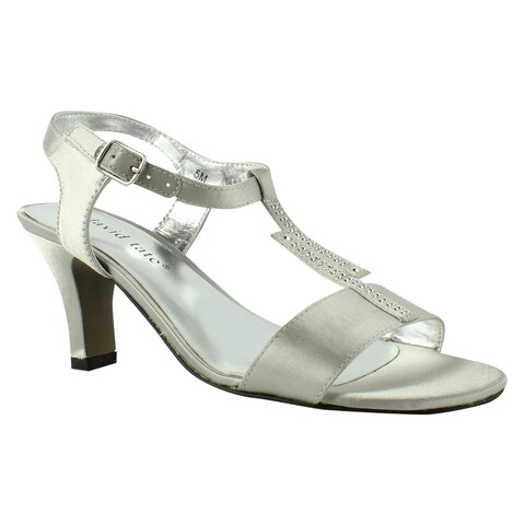 David Tate Womens Stargaze-040 Silver T-Strap Sandals Size 5