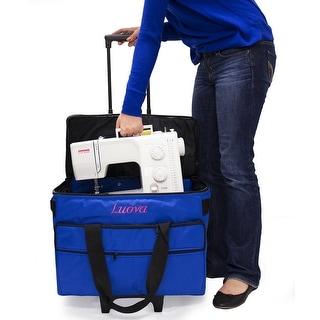 "Luova 19"" Rolling Sewing Machine Trolley in Cobalt Blue"