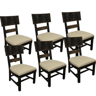 Transitions Wood Back Side Chair - Set of 6 - Black