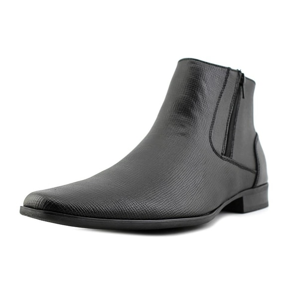 728a4dd3df1 Shop Calvin Klein Beck Epi Men Plain Toe Leather Black Bootie - Free ...