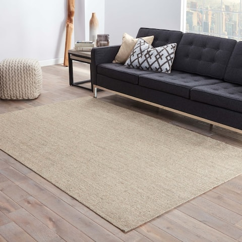 "The Gray Barn Otter Wood Natural Solid Beige Area Rug - 7'10"" x 9'10"""