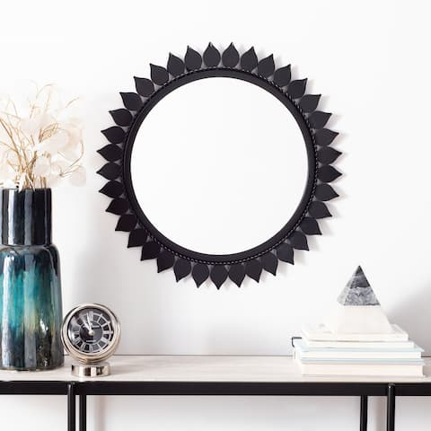 "Safavieh Nally 21-inch Black Round Mirror - 21"" W x 1.5"" L x 21"" H"