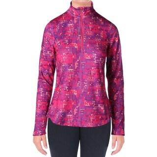 Reebok Womens Typetoken 1/4 Zip Jacket Printed Slim