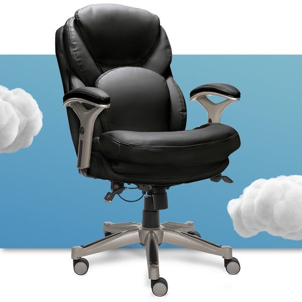 Serta Black Bonded Leather Office Chair. Opens flyout.