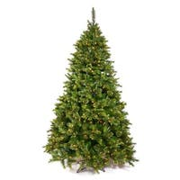 4.5' Pre-Lit Mixed Cashmere Pine Full Artificial Christmas Tree - Clear Dura Lights - green