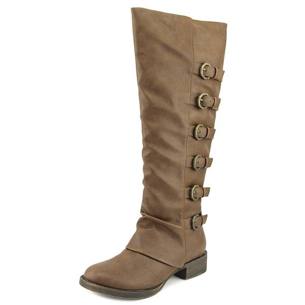 Blowfish Kara Women Round Toe Synthetic Brown Over the Knee Boot