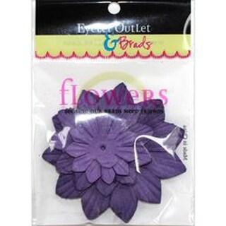 Eyelet Outlet Flowers 40/Pkg-Purple267