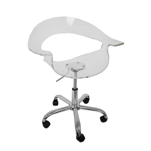 Superb Shop Clear Acrylic Adjustable Height Swivel Chair Free Evergreenethics Interior Chair Design Evergreenethicsorg
