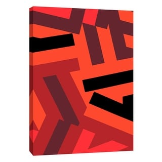 "PTM Images 9-108739  PTM Canvas Collection 10"" x 8"" - ""Monochrome Patterns 1 in Red"" Giclee Abstract Art Print on Canvas"
