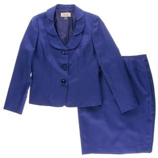 Le Suit Womens Textured 2PC Skirt Suit - 6