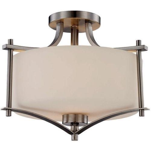 "Savoy House 6-334-2 Colton 2 Light 15"" Wide Semi-Flush Ceiling Fixture"