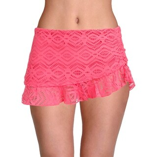 Becca by Rebecca Virtue Womens Plus See It Through Tiered Swim Bottom Separates (2 options available)
