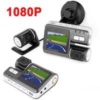 Unique Bargains Dual Lens Dashboard Car Camera Video Recorder DVR 2.0 LCD IR HD 1080P New