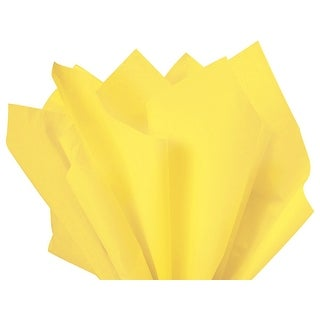 """Pack Of 480, Solid Light Yellow Tissue Paper 15 X 20"""" Sheet Half Ream Made From 100% Post Industrial Recycled Fibers Made In Usa"""