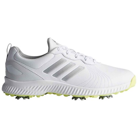 New Adidas Women's Response Bounce White/Silver Met./Semi Frozen Yellow Golf Shoes F33664
