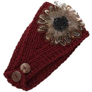 Mad Style Burgundy Dahila Floral Headwrap