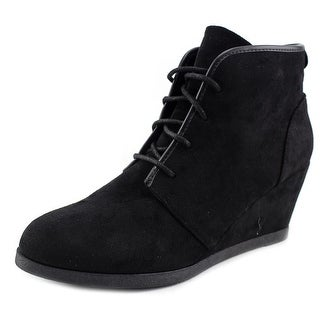 Madden Girl Dallyy Women  Open Toe Canvas Black Wedge Heel
