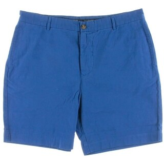Tailor Byrd Mens Twill Monogram Casual Shorts