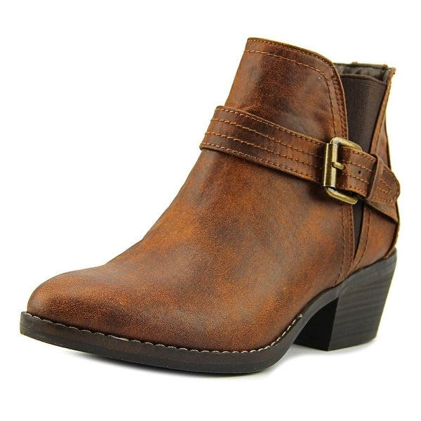 Hadley Women Round Toe Canvas Brown Bootie