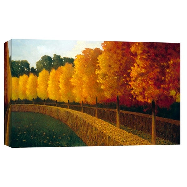 """PTM Images 9-102021 PTM Canvas Collection 8"""" x 10"""" - """"Linden Trees in Autumn"""" Giclee Forests Art Print on Canvas"""