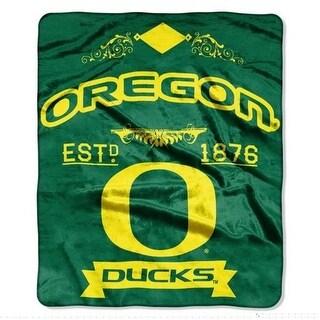 Oregon Ducks Blanket 50x60 Raschel Label Design