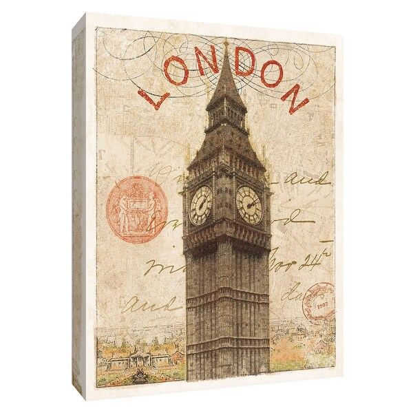 """PTM Images 9-154842 PTM Canvas Collection 10"""" x 8"""" - """"Letter from London"""" Giclee Big Ben Art Print on Canvas"""