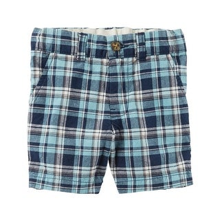 Carter's Baby Boys' Plaid Flat-Front Shorts, 18 Months