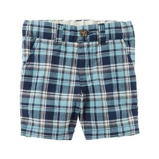 Carter's Baby Boys' Plaid Flat-Front Shorts, 6 Months https://ak1.ostkcdn.com/images/products/is/images/direct/4291469861e0327e42b0c165d6aef2b32f9c3de2/Carter%27s-Baby-Boys%27-Plaid-Flat-Front-Shorts%2C-6-Months.jpg?impolicy=medium