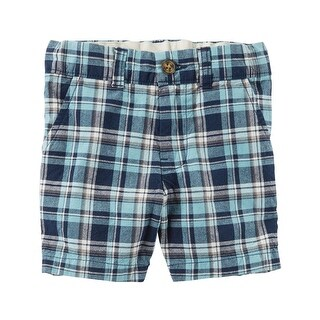 Carter's Baby Boys' Plaid Flat-Front Shorts, 6 Months
