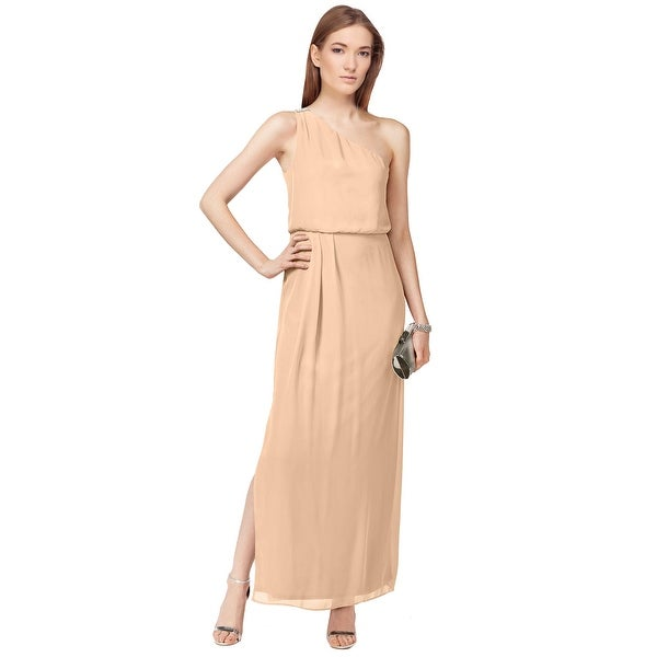 Adrianna by Adrianna Papell One Shoulder Chiffon Drape Eve Gown ...