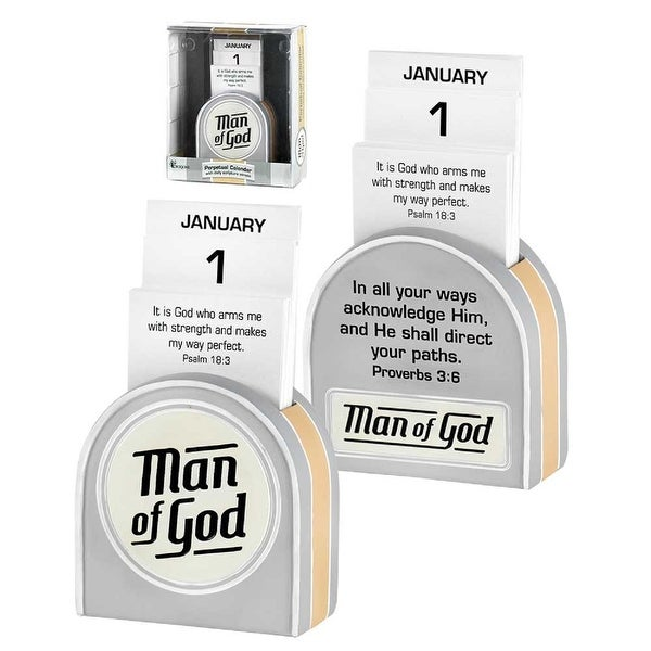 "2.75"" ""Man of God In All Your Ways Acknowledge Him"" Perpetual Interactive Calendar - N/A"
