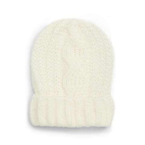 FREE PEOPLE Womens Ivory Fitted Winter Beanie Hat Cap