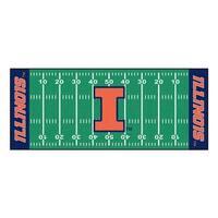 NCAA University of Illinois Fighting Illini Football Field Runner Mat Area Rug