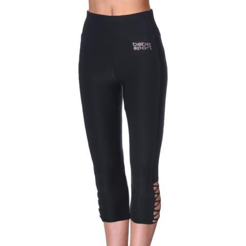 Bebe Sport Womens Capri Pants Yoga Fitness