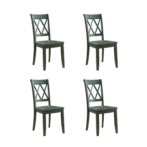 """Mestler Dining Room Side Chair 2/CN Blue/Green (4-Pack) Mestler Dining Room Side Chair 2/CN Blue/Green"""