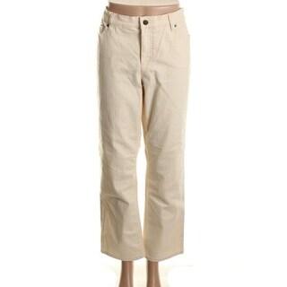 LRL Lauren Jeans Co. Womens Petites Straight Leg Jeans Denim Slimming Fit - 6P