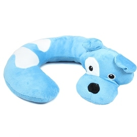 Animal Character Travel Neck Pillow, Blue Dog by Northpoint