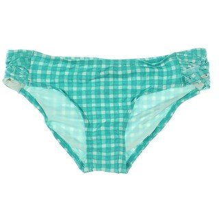 Coco Rave Womens Juniors Never Too Much Checkered Swim Bottom Separates - M