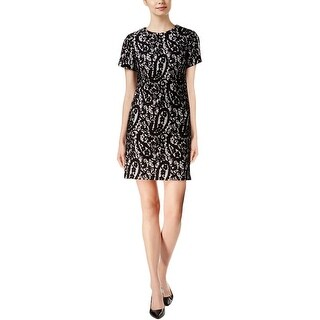 MICHAEL Michael Kors Womens Party Dress Lace Overlay Short Sleeves