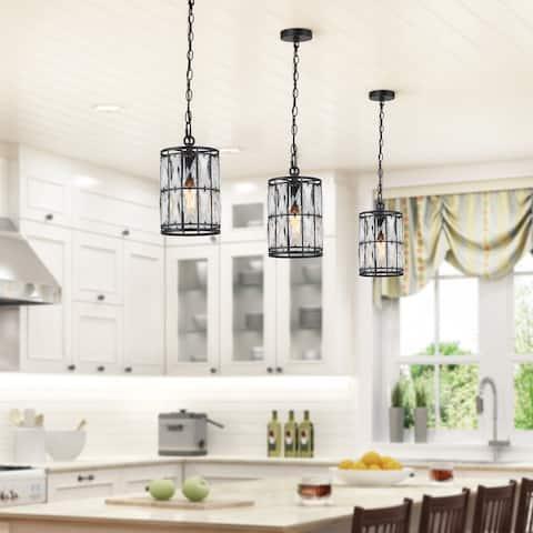 "Modern Crystal 1-light Pendant Lights for Kitchen Island Dining Room - D5.5""xH10"""