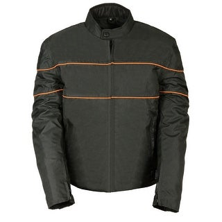 Mens Textile Scooter Style Striped Jacket